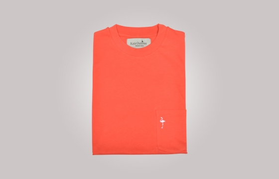 T-shirt homme Pocket Tee corail v2 - Tee shirt manches courtes - Ozoa Chemises