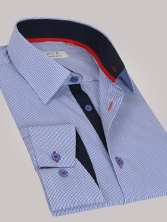 Chemise homme à rayures bleues trio marine & rouge - Chemise CINTREE