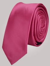 Cravate unie fuchsia - Cravate homme