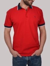 Polo homme South Bay rouge et marine - Polo manches courtes