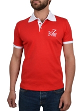 Polo manches courtes Shorty Shirt rouge et blanc