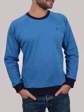 Sweat homme Notellom Tee bleu et marine - Sweat manches longues