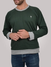 Sweat homme Notellom Tee vert et gris - Sweat manches longues