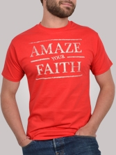 T-shirt homme Amazing Tee rouge et beige - Tee shirt manches courtes