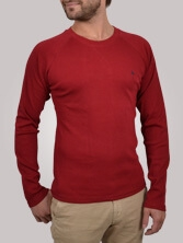 T-shirt homme Casual Tee rouge - Tee shirt manches longues