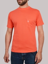 T-shirt homme Pocket Tee corail - Tee shirt manches courtes