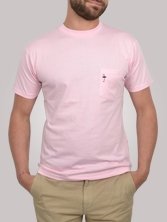 T-shirt homme Pocket Tee rose - Tee shirt manches courtes