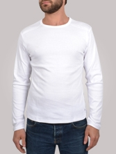 T-shirt homme Stitchy Tee blanc - Tee shirt manches longues