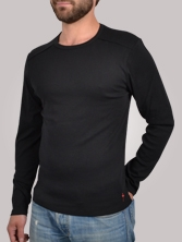 T-shirt homme Stitchy Tee noir - Tee shirt manches longues