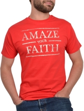 Tee shirt manches courtes Amazing Tee rouge et beige