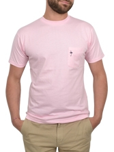 Tee shirt manches courtes Pocket Tee rose