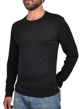 Tee shirt manches longues Stitchy Tee noir